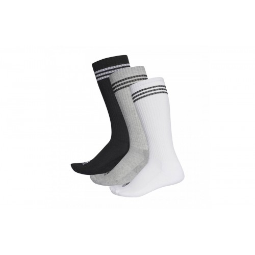 ADIDAS 3-STRIPES KNEE SOCKS (3 PAIR) AY6440 ΜΑΥΡΟ-ΓΚΡΙ-ΛΕΥΚΟ